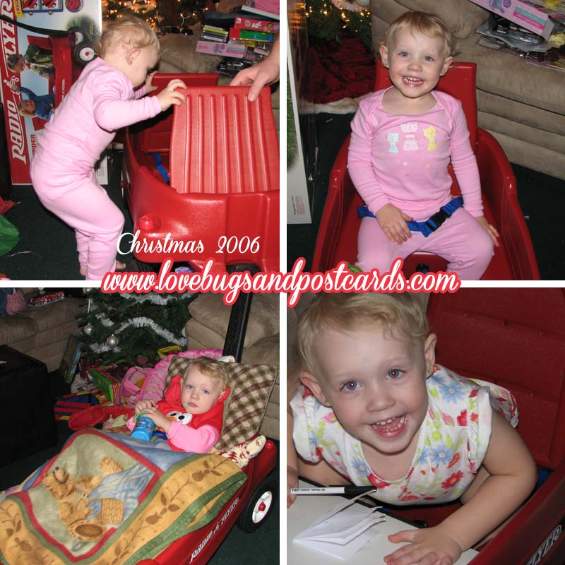 Our daughter in 2006 when she got her first Radio Flyer Wagon
