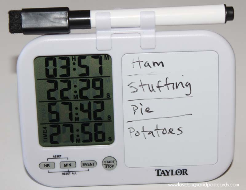 Taylor Plan and Prep Kitchen Timer