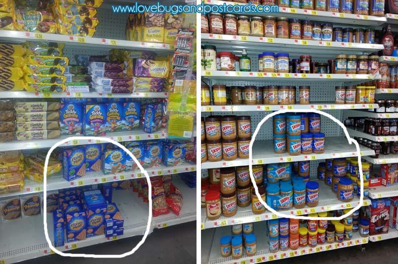 Honey Maid Graham Crackers and Skippy Peanut Butter at Walmart