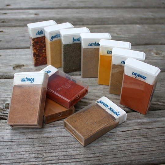 Use Tic Tac containers for Spice Storage