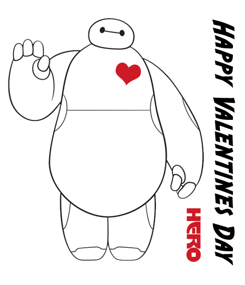BayMax Valentines Day Card