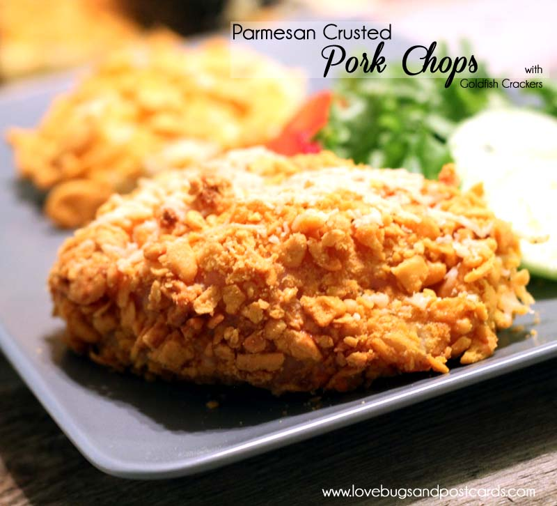 Goldfish and Parmesan Crusted Pork Chops Recipe