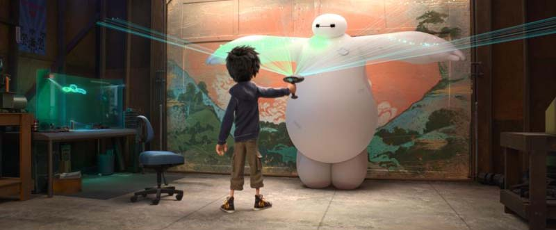 Hiro and BayMax in Big Hero 6