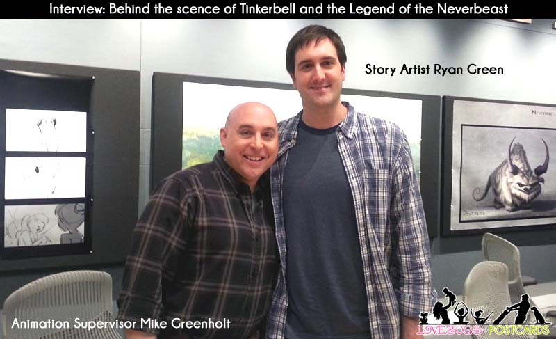 Animation Supervisor Mike Greenholt (left) and Story Artist Ryan Green (right) for Disney's Tinkerbell and the Legend of the Neverbeast
