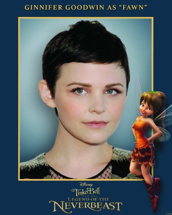 Ginnifer Goodwin as Fawn in Tinkerbell and the Legend of the Neverbeast