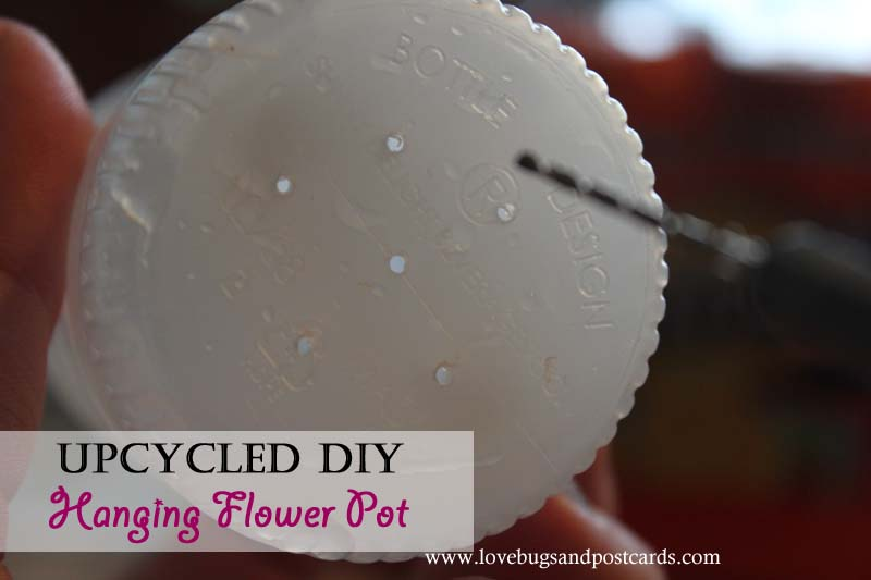 Upcycled DIY Hanging Flower Pot