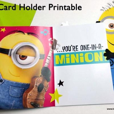 Minion Card Holder Printable