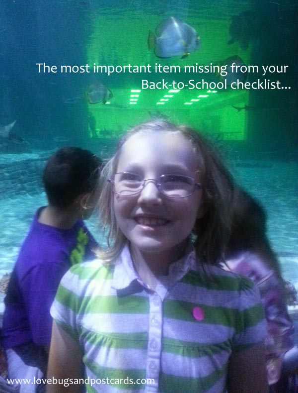 The most important item missing from your Back-to-School checklist...