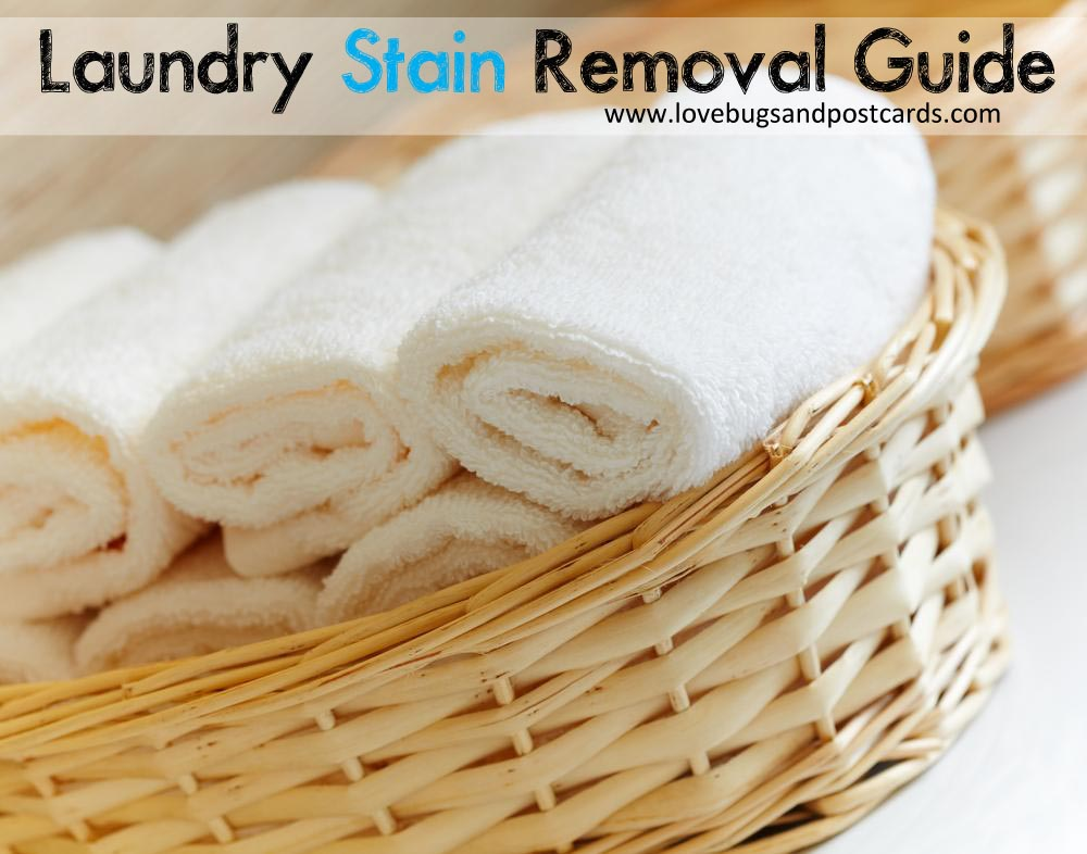 Laundry Stain Removal Guide Free Printable Lovebugs