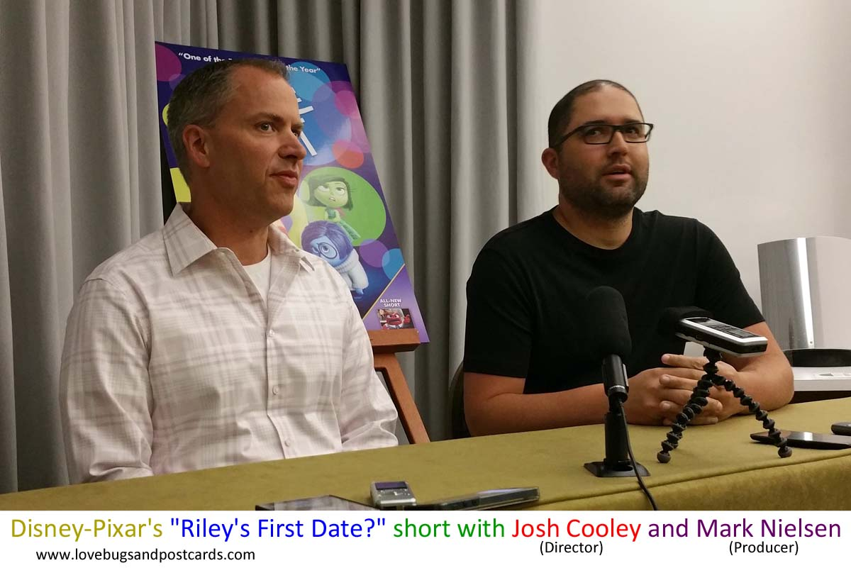 """Disney-Pixar's """"Riley's First Date?"""" short with Josh Cooley and Mark Nielsen"""
