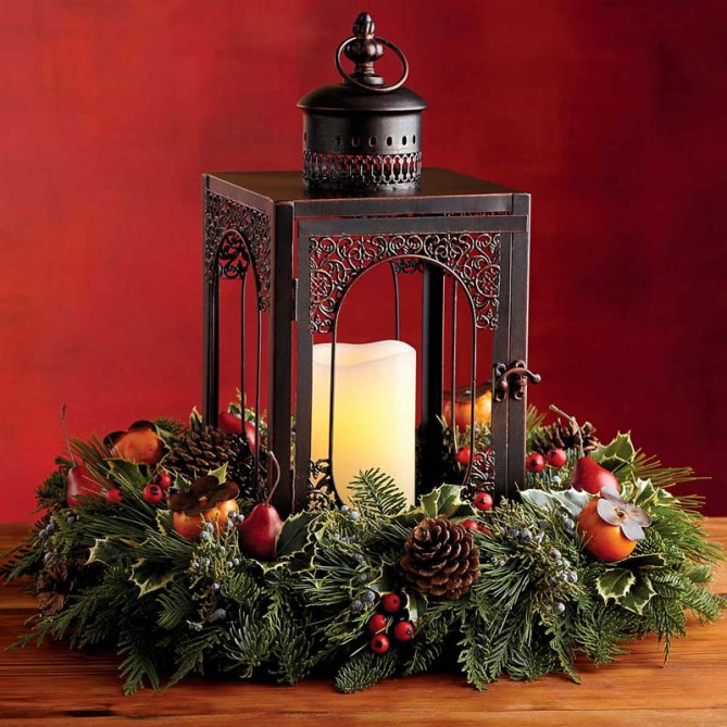 HarryDavid-evergreen-lantern-centerpiece