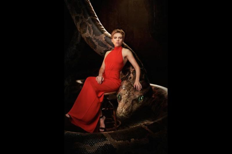 Scarlett Johansson as Kaa in Disney's The Jungle Book