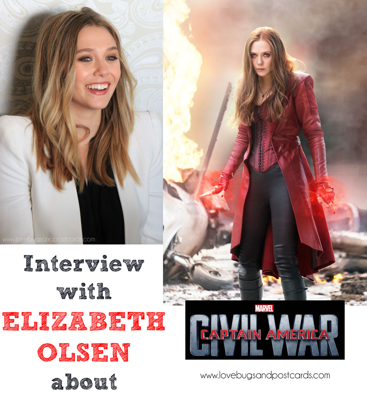 Interview with Jeremy Renner & Elizabeth Olsen #CaptainAmericaCivilWar #CaptainAmericaEvent