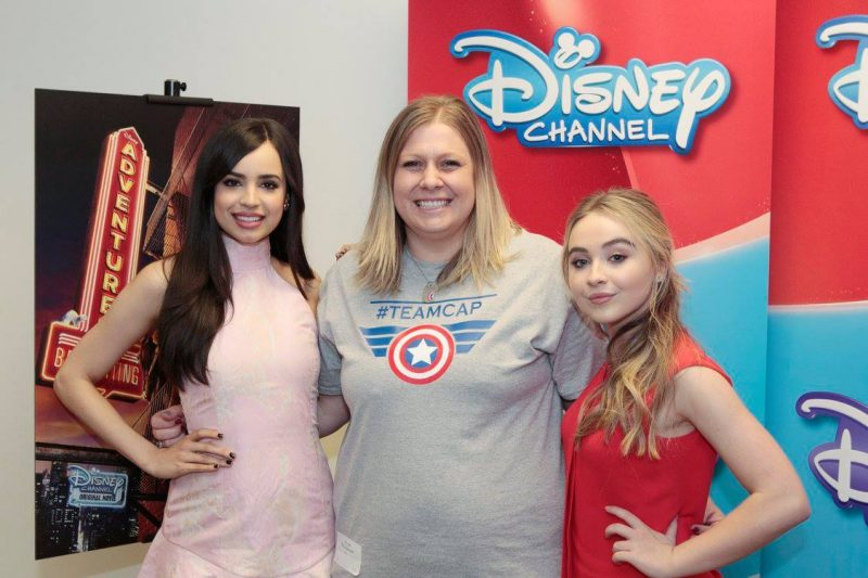 Sofia Carson and Sabrina Carpenter in Disney's Adventures in Babysitting
