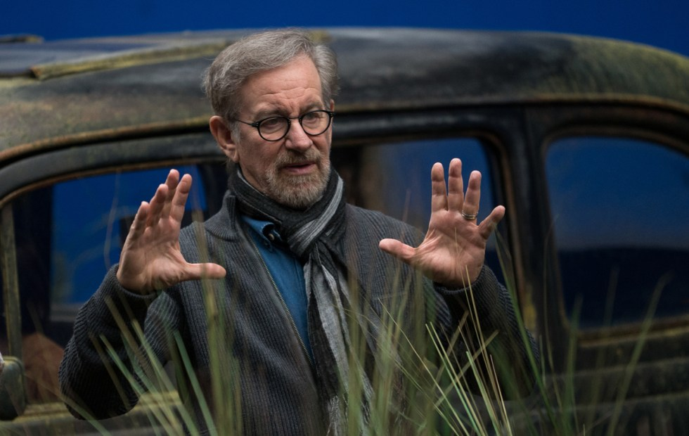 Director Steven Spielberg on the set of Disney's THE BFG, based on the best-sellling book by Roald Dahl.