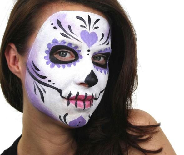 17 Creative Face Painting Ideas for Halloween and Birthdays - Sugar Skull