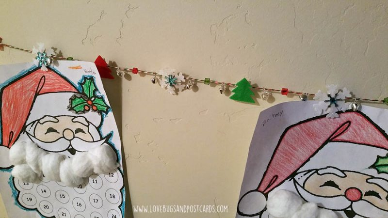 DIY Card/Picture Holder Christmas Garland