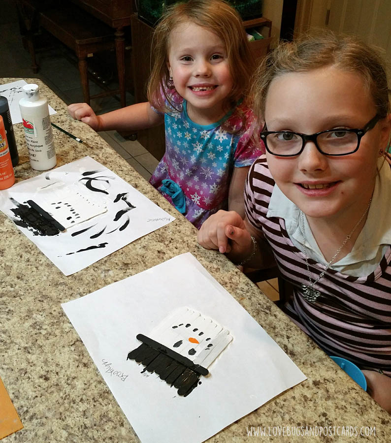 Snowman Crafts for Kids + DIY Stick Snowman Craft