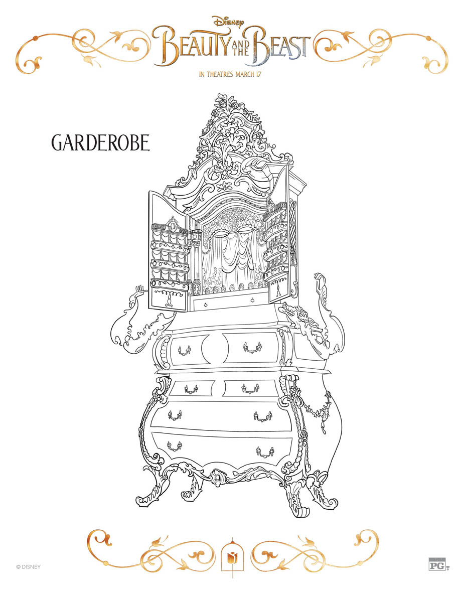 Garderobe Coloring Page