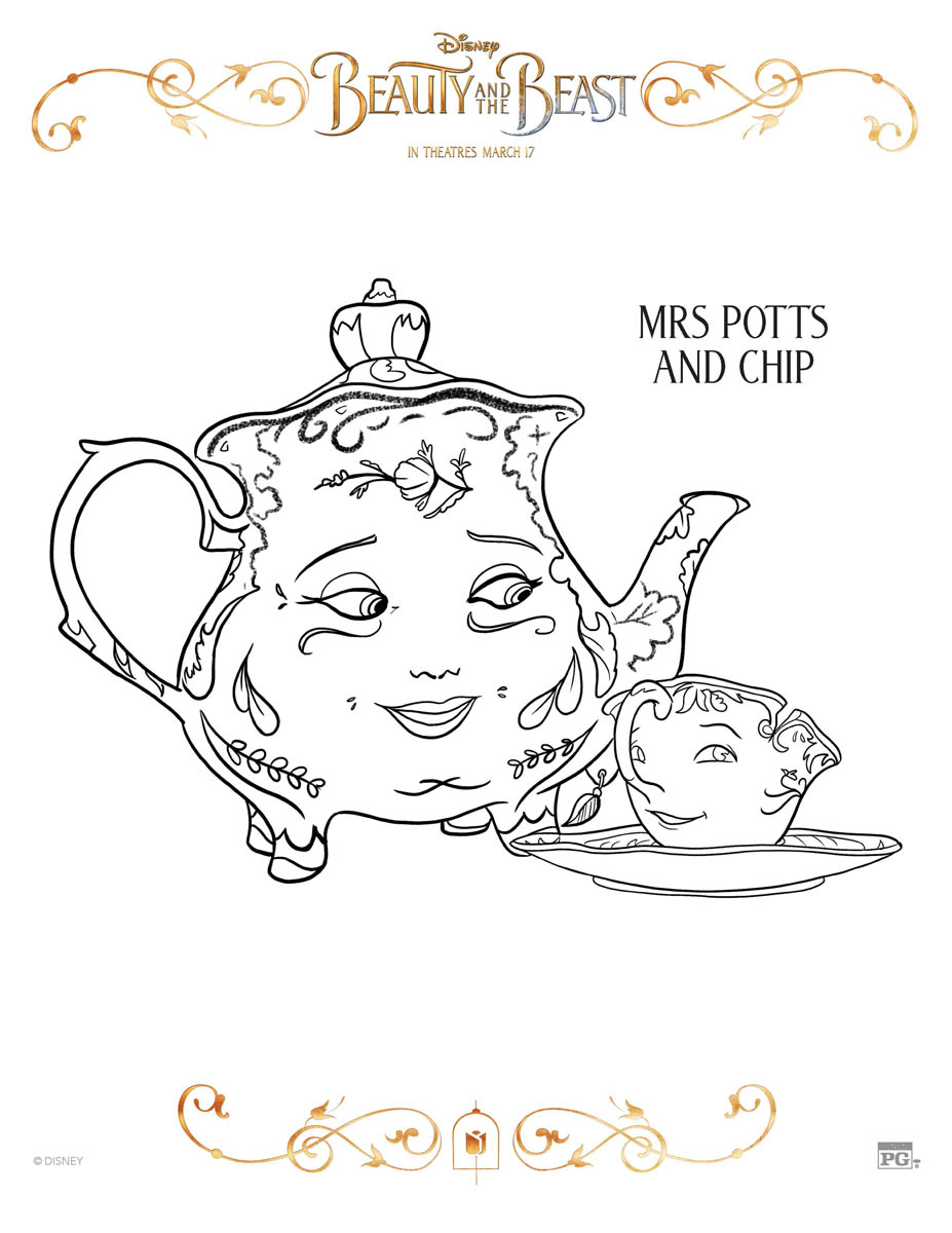 disney u0027s beauty and the beast coloring pages beautyandthebeast