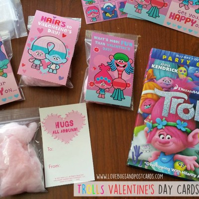 TROLLS Valentine's Day Cards