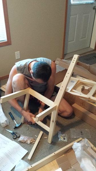 Этап №2 - собираем первый стул