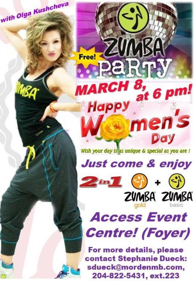 Zumba march 8