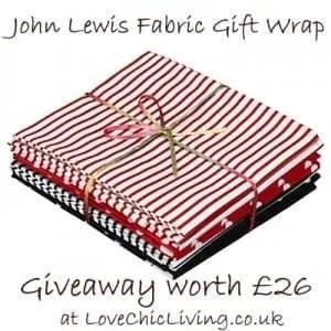 The Joy of Giving: WIN a John Lewis Fabric Gift Wrap Bundle