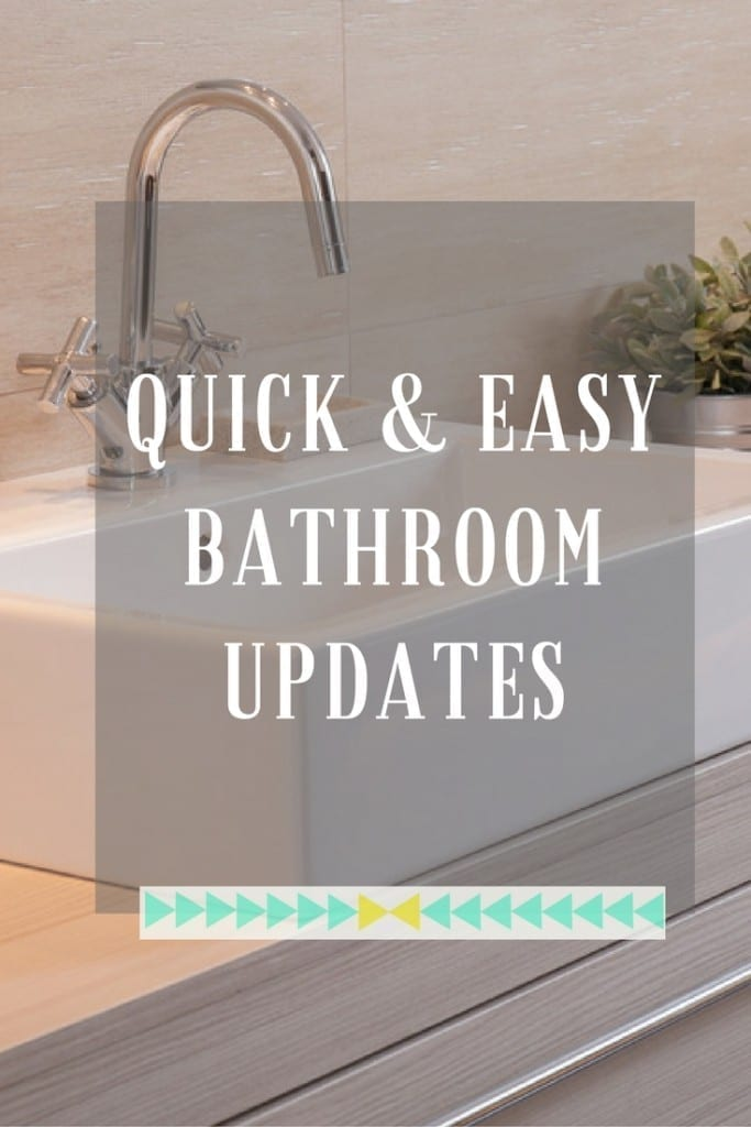 The bathroom often gets neglected in terms of makeovers and updates, but often one of the rooms that needs it most. However there are quite a few quick fixes and inexpensive updates you can make to the room to ensure it stays fresh and inviting. How about these ideas to get you going?