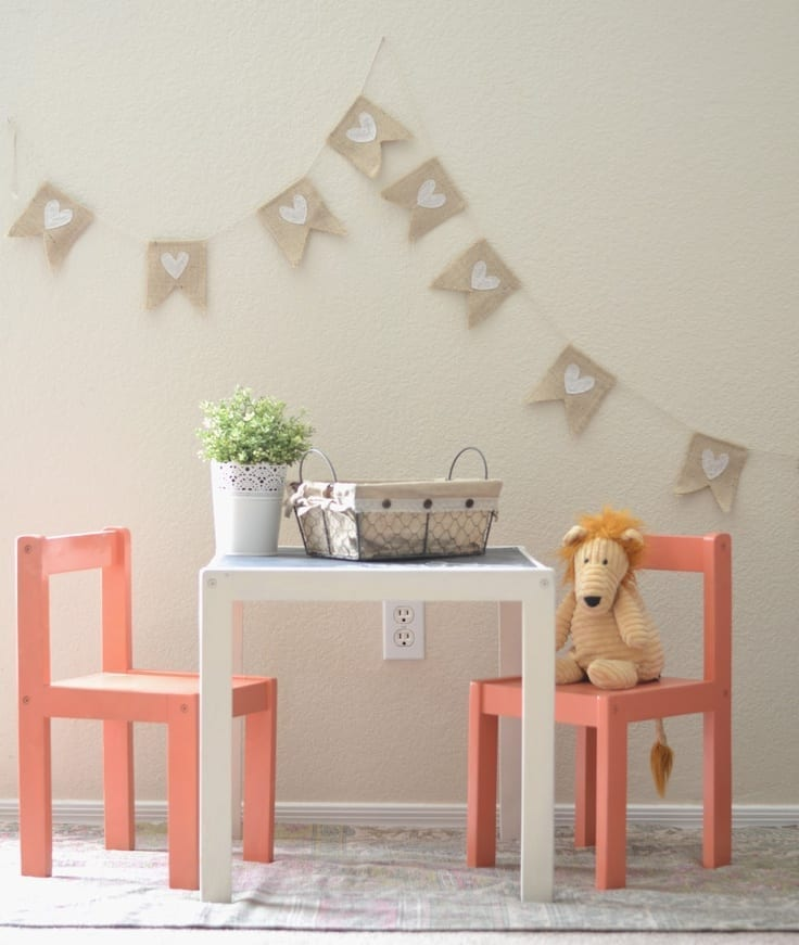 customised kids table and chairs