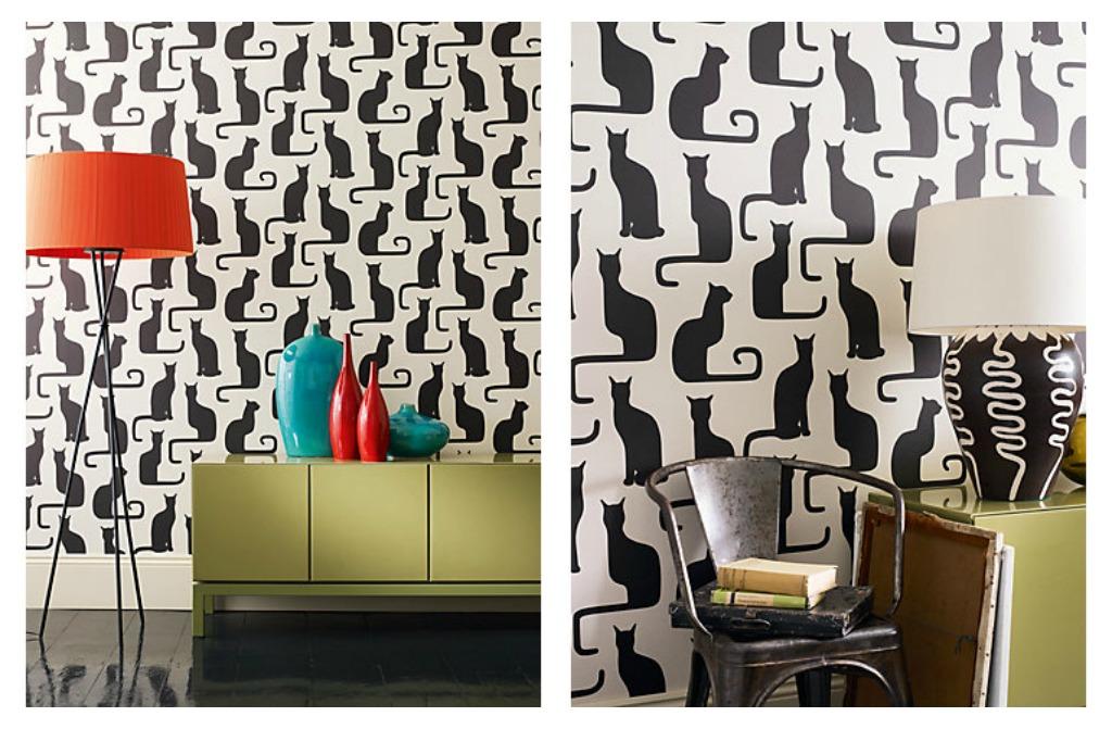 modern cat wallpaper