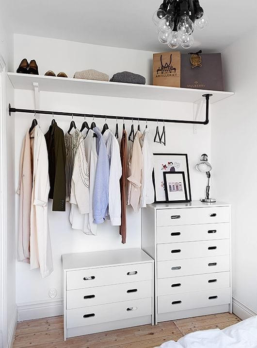 spare room hanging space