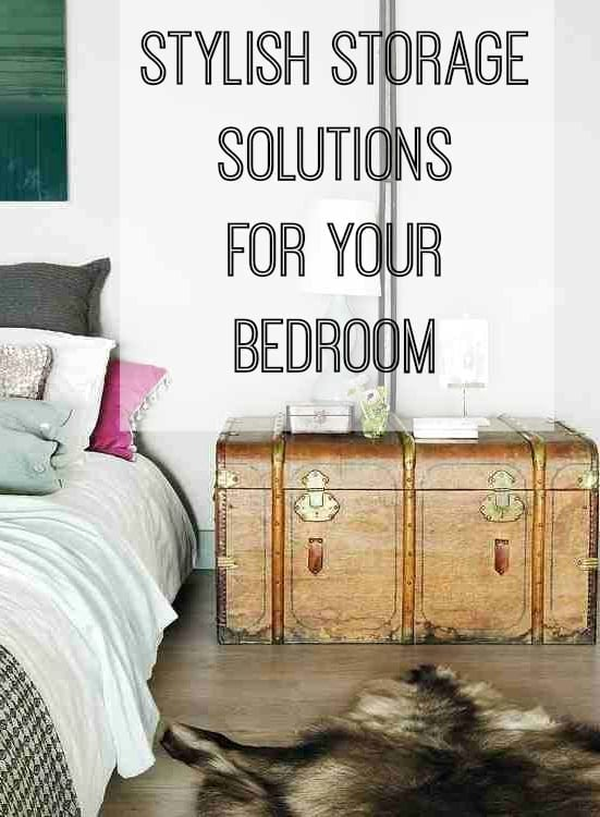 Stylish storage solutions for your bedroom