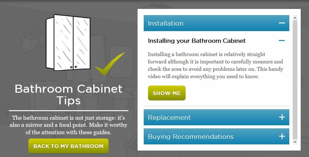 bathroom cabinet tips