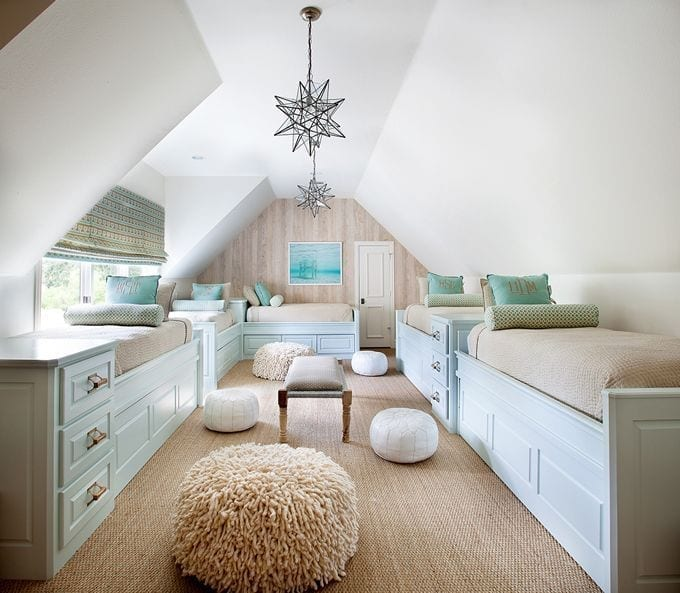 multiple beds attic