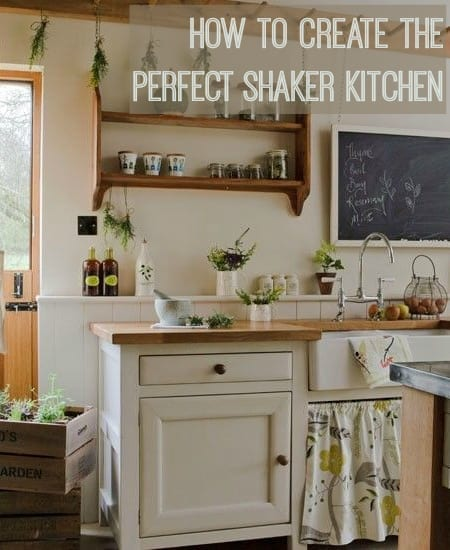 how to create the perfect shaker kitchen