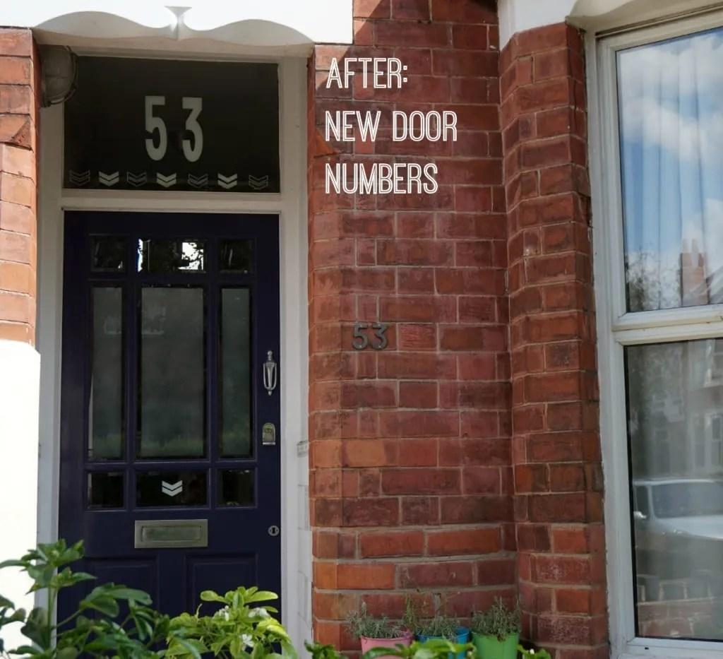 After new door numbers