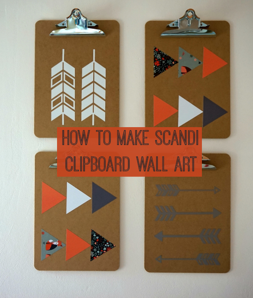 How to make scandi themed clipboard wall art