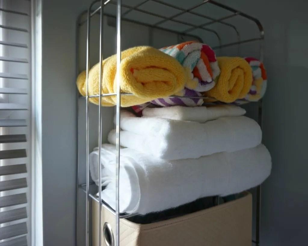 White company towels