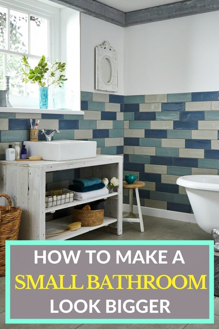 Making a small bathroom look bigger can be a real challenge, especially if it's an ensuite and you need to figure in storage solutions. Click through for more tips and ideas on how to make your small bathroom appear bigger