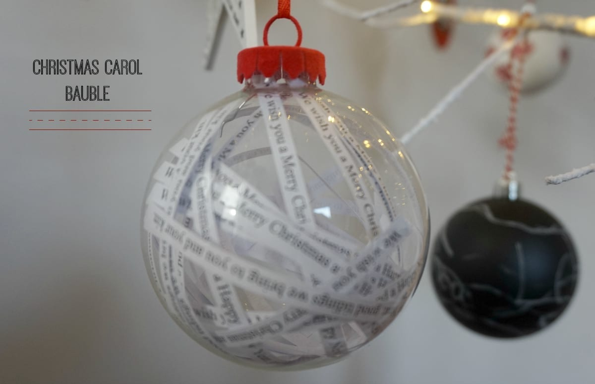 Christmas carol bauble