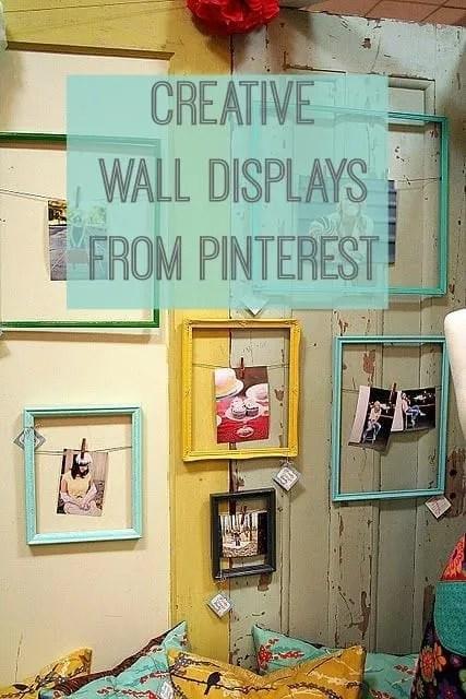 Creative wall displays from my Wall Art Pinterest board