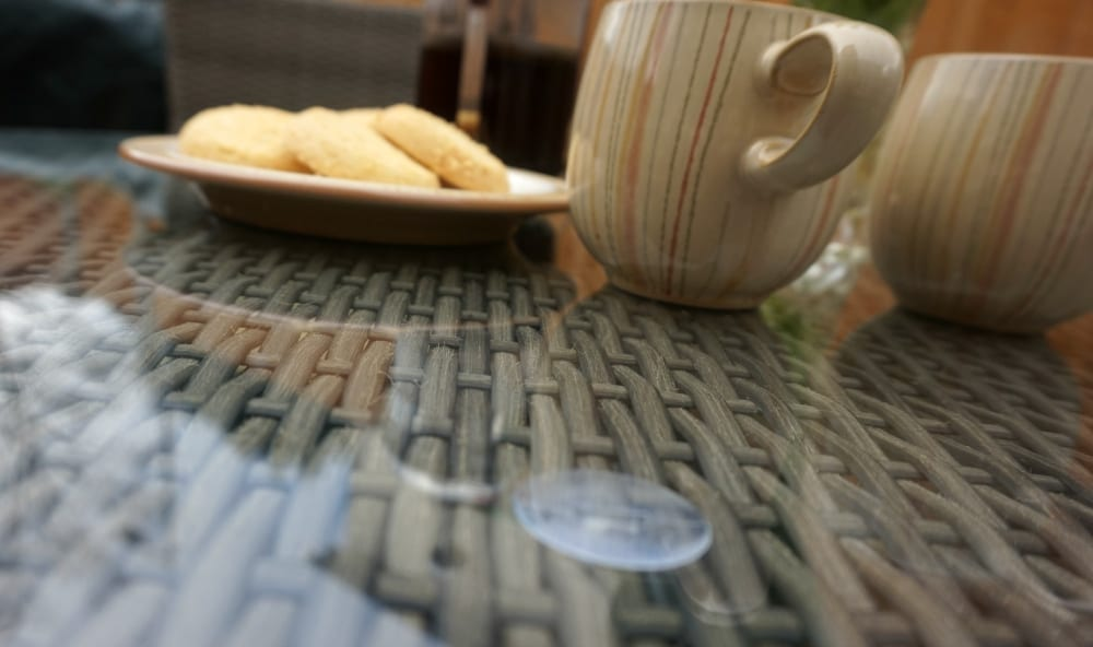 Bistro set glass table top