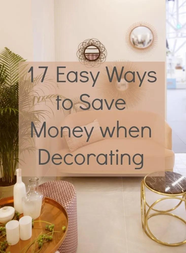 Easy ways to save money decorating