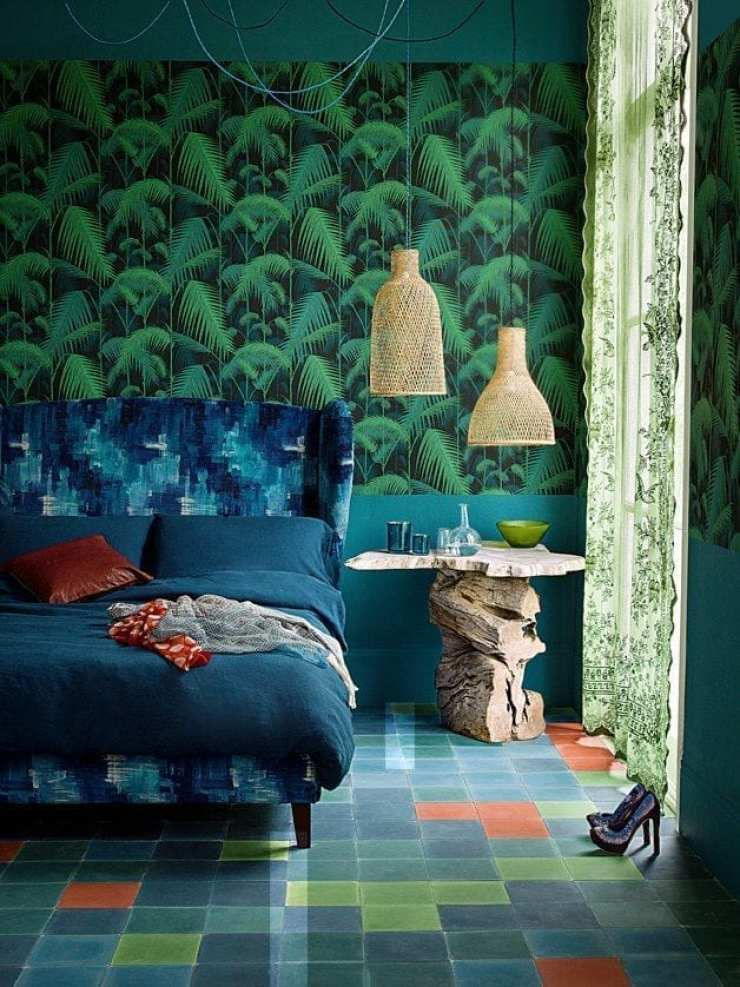 Create your own jungle wallpaper print love chic living for Design your own wallpaper