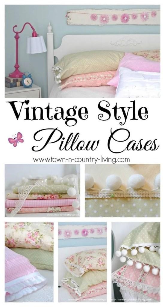 DIY Vintage Pillowcases