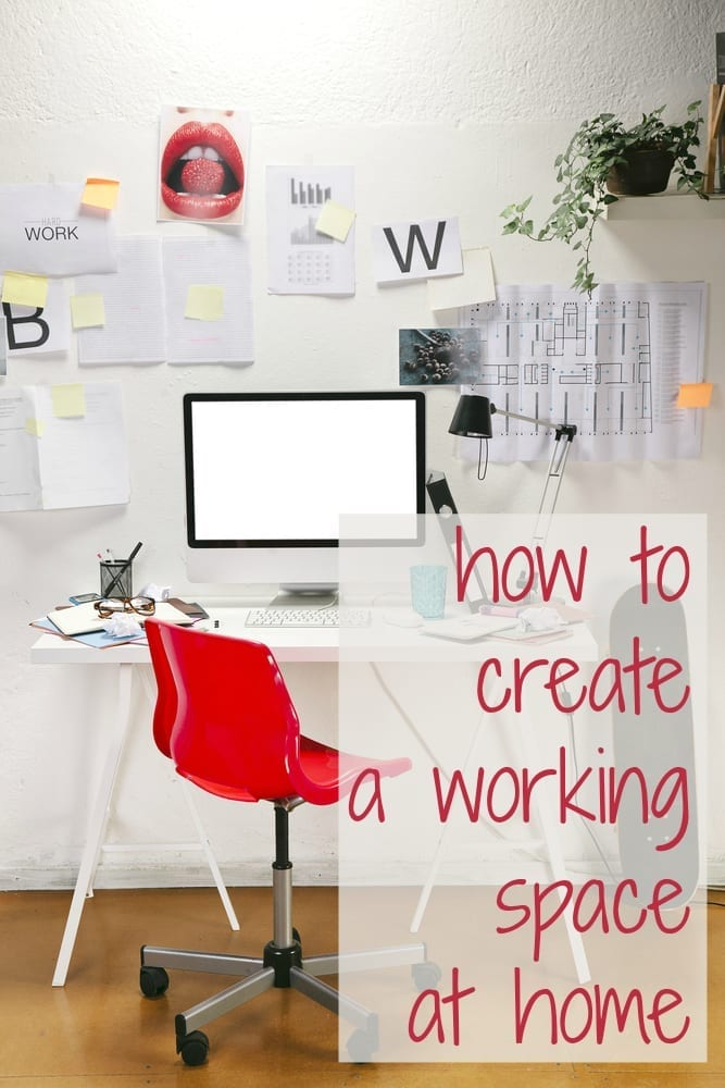 How to create a work from home space