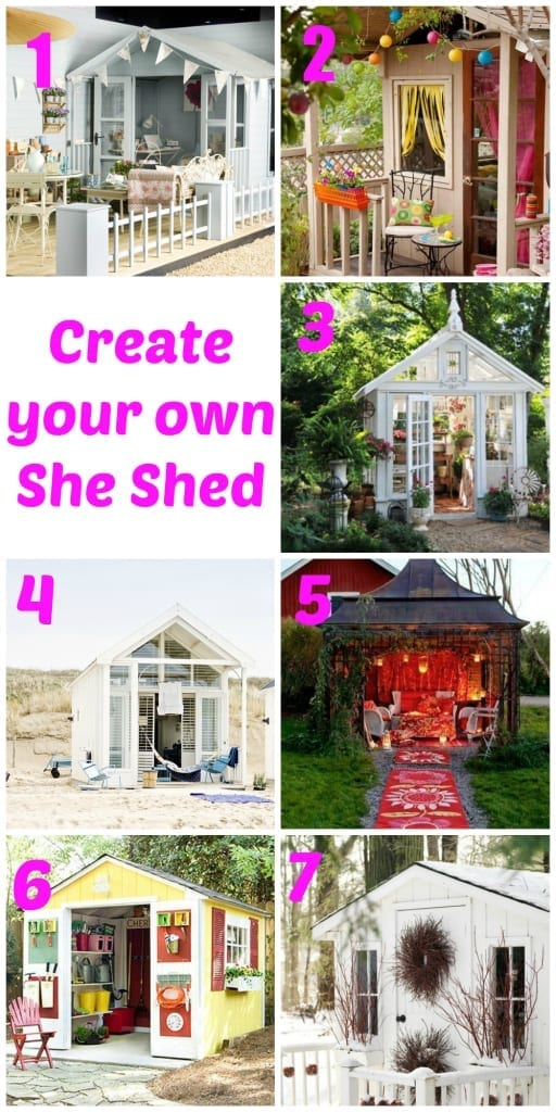 round up of inspiring she sheds