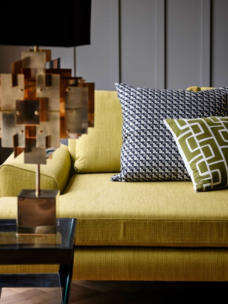 Detail of Tom Dyckhoff and Quartz sofa from DFS