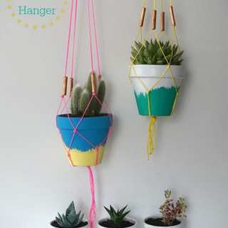 DIY Succulent Planters and Macrame Hangers Tutorial